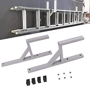 StarONE 2pcs Universal Cargo Aluminum Side Mount Ladder Racks Fit for Enclosed Trailer Exterior or Interior Side Wall