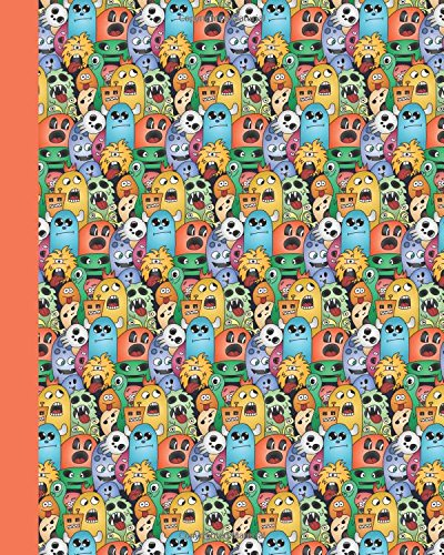 Download Sketch Journal: Doodle Monsters (Orange) 8x10 - Pages are LINED ON THE BOTTOM THIRD with blank space on top (8x10 Monsters and Aliens Sketch Journal Series) pdf epub