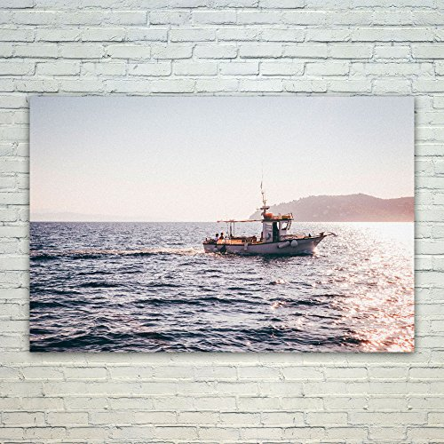 Westlake Art Poster Print Wall Art - Sea Boat - Modern Picture Photography Home Decor Office Birthday Gift - Unframed - 16x24in