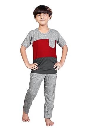 23cf164e88 The Cavallo V-tex Boy s Cotton Nightwear Set (30)  Amazon.in ...