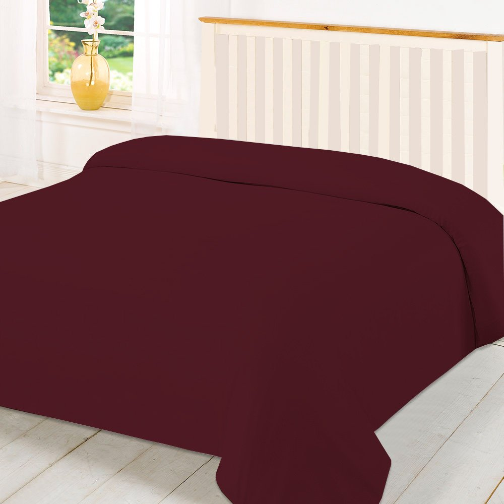 TWIN 600TC WONDERFUL 100# EGYPTIAN COTTON 1PC DUVET COVER,BURGUNDY SOLID BedDecor