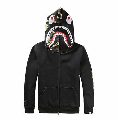 d1bdd5ff032f Griffith Nancy New Bathing Ape Bape Jacket Men Shark Head Full Zip Hoodie  Sweater Jacket (