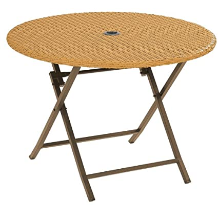 Amazon.com: BS mesa redonda plegable jardín al aire última ...