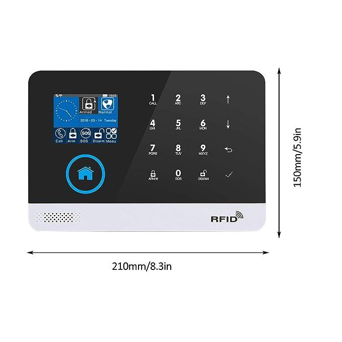 Ballylelly WIFI + GSM Alarma Host Pantalla LCD Teclado táctil ...