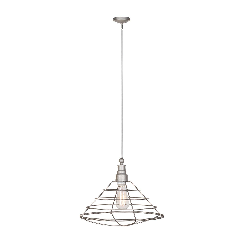 Design House 519660 Ajax 1 Light Pendant, Galvanized Steel Finish