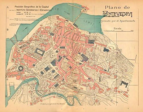 Mapa De Pontevedra Ciudad.Amazon Com Pontevedra Plano Antiguo De La Cuidad Ciudad Ciudad Plan Antiguo Martin C1911 Old Map Antique Map Mapa Clasico Espana Mapas Home Kitchen