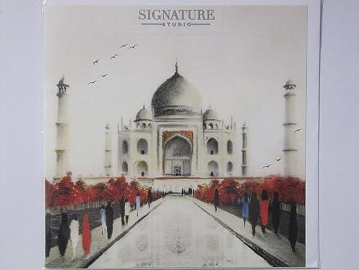Fantástico Scenic Taj Mahal India en Blanco Tarjeta de ...