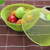 Onetek Grid Frutero de hierro con tapa para decoraci/ón de mesa