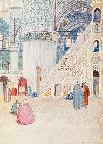 Posterazzi Turkey 1911 Sultan Ahmed Mosque Poster Print by Warwick Goble (18 x - Mosque Sultan Ahmed