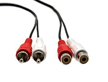 KnnX 28043 - Extension de Cable de Audio RCA - Longitud 3m - 2 Conectores Phono Macho a 2 Conectores Phono Hembra