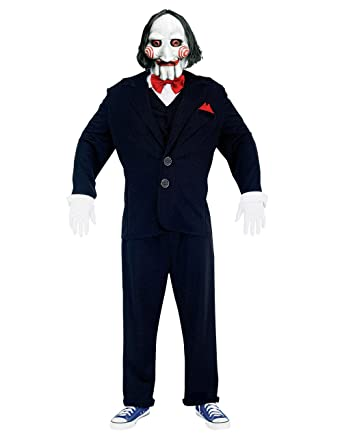 "Saw Jigsaw Puppet Adult Costume, Medium, Chest 42-44"" ..."