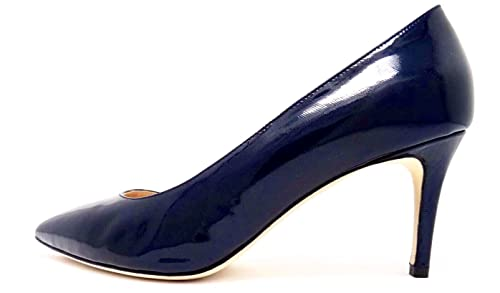d554e9a9b09 Ferresi Blue Reticolato Leather Pump - Handmade   Wide-Width ...