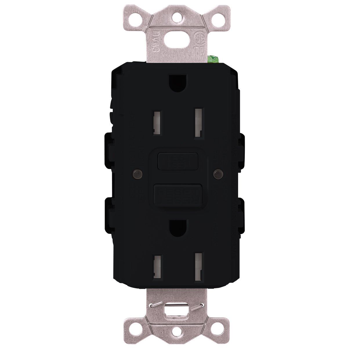 Lutron  SCR-20-GFST-MN  20-Amp  Tamper Resistant Self-Testing Receptacle, Midnight