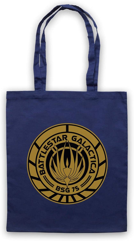 Inspired Apparel Inspirado por Battlestar Galactica BSG 75 Logo No Oficial Bolso