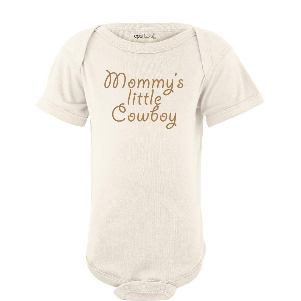 Apericots Mommys Little Cowboy Adorable Cute Baby Soft Cotton Country Western Boy Creeper