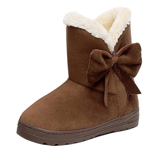 763b42dd2 Minetom Mujeres Otoño Invierno Botines Zapatos Calientes Moda Botas Con  Bowknot  Amazon.es  Ropa y accesorios