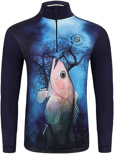 Baoblaze Camisa de Pesca Sudadera Protectora Quick Dry Sun ...