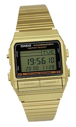 654e97350d Amazon | [カシオ]CASIO メンズ 腕時計 データバンク 防水 DB-380G-1D ...