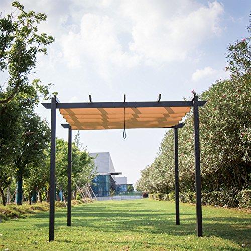 Peach Tree Outdoor 10' x 10' Grill Gazebo Pergola Outdoor Party BBQ Heavy Duty Weights Canopy Gr ...