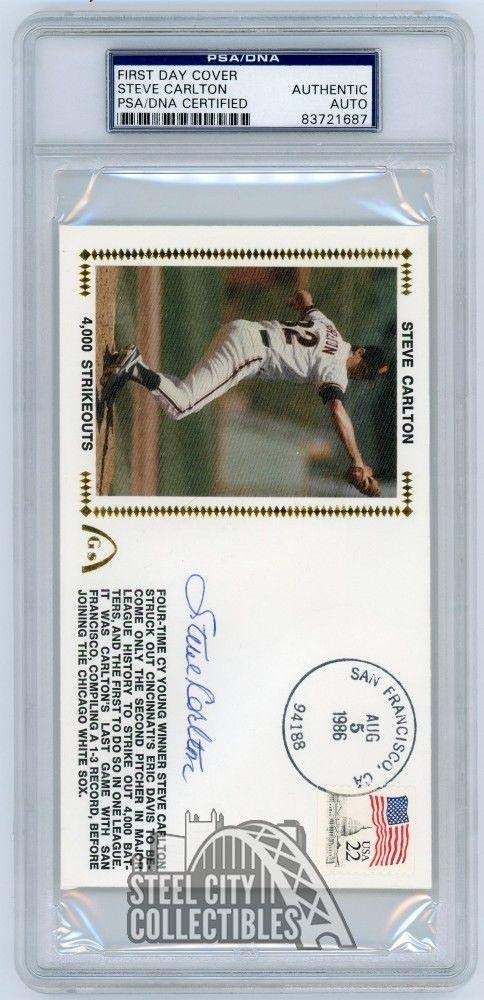 Steve Carlton Autographed First Day Cover - PSA/DNA Certified - MLB