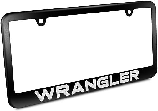 laser engraved for Jeep Black matte coated License Plate Frame mirror letter