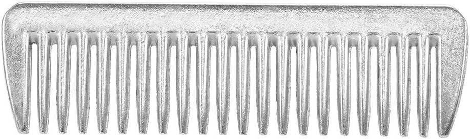 Entweg Peine de Caballo - Aleación de Aluminio Horse Comb Mane Tail Pulling Comb Metal Horse Grooming Tool 6.5In / 3.9In / 3.5In / 3.2In