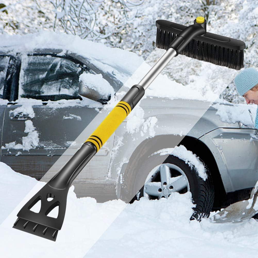 Eiskratzer Auto Ausziehbare Schneebesen Eisschaber und Schneeb/ürste mit Ausziehbarem Schaumstoffgriff Schneeschaufeln f/ür Autos Windschutzscheibe mit 360/°Drehbarem Kopf f/ür Autos Truck SUV MPV