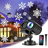 Halloween Christmas Projectors Lights, Holiday Projector LED Landscape Lights, Ocean Wave Outdoor Indoor Decoration Lighting with Remote Control for Xmas Birthday Party Ceiling Garden Yard Decoration