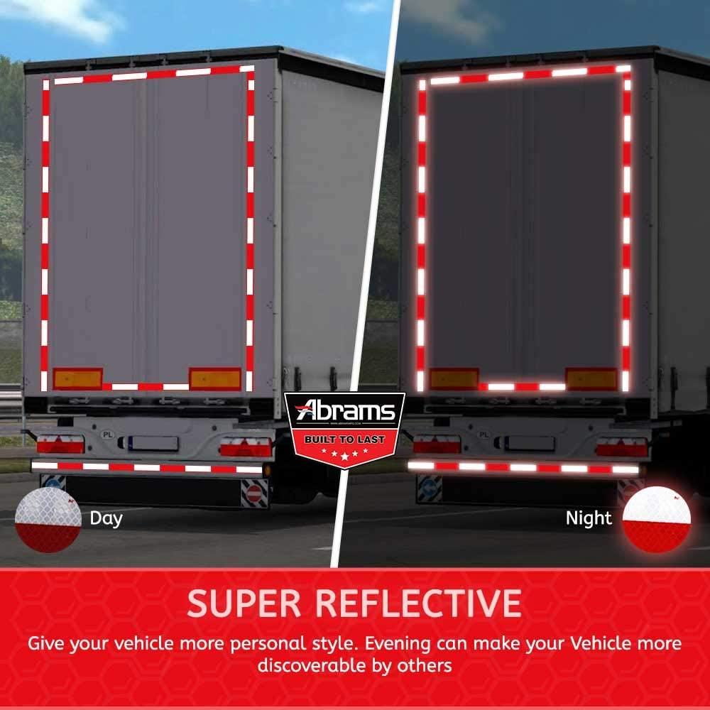 Red/… Abrams 2 in x 30 ft Diamond Pattern Trailer Truck Conspicuity DOT Class 2 Reflective Safety Tape