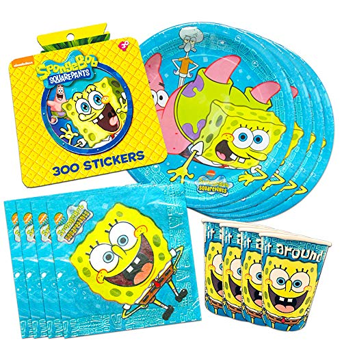 Spongebob Squarepants Party Supplies Set ~ Birthday Party Plates, Cups, Napkins, and More (Spongebob Party Supplies)