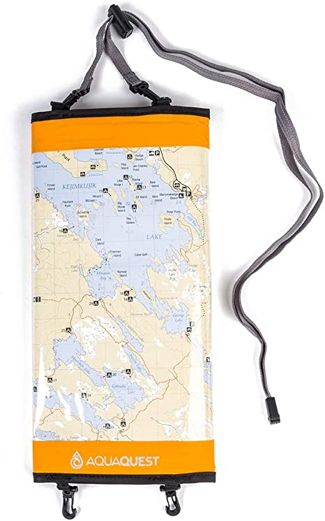 100/% Waterproof Document Dry Bag Holder with Clear Window /& Lanyard Aqua Quest Trail Map Case