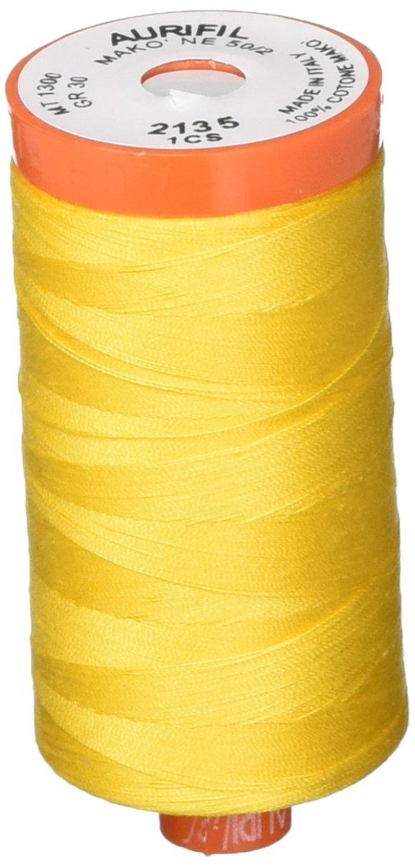 Aurifil Mako Cotton Thread Solid 50wt 1422yds Yellow