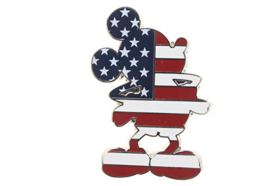 419b3a39ab6 Image Unavailable. Image not available for. Color  Disney Stars and Stripes  Patriotic Mickey Mouse Pin