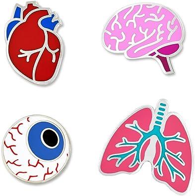 HUMAN LUNGS MEDICAL ENAMEL BADGE LAPEL PIN
