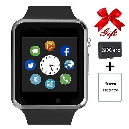 Amazon.com: Reloj inteligente, reloj inteligente Bluetooth ...