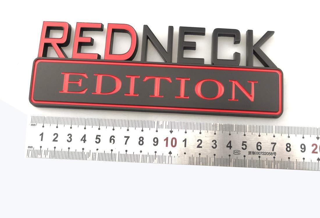 Chrome 1Pc Big REDNECK EDITION CAR EMBLEM Badges 3D Sticker Decal Compatible with F-150 F250 F350 Silverado 1500