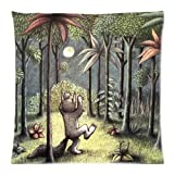 loejrfw B Where The Wild Things are #2033W Cotton & Polyester Soft Zippered Cushion Throw Case Pillow Case Cover