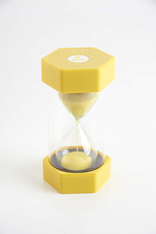 TickiT 92037großes Sand Timer, 3Minuten, 70mm Durchmesser, gelb 3Minuten 70mm Durchmesser Commotion Ltd 9503