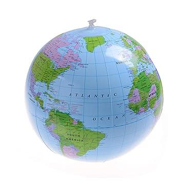 Globus Karte.Fadacai 40cm Frühe Pädagogische Aufblasbare Erde Welt Geographie