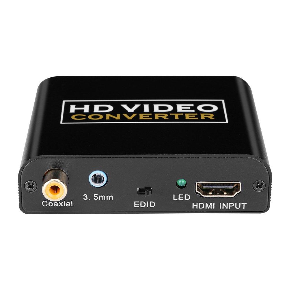 HDMI a DVI con Audio HDMI a coaxial conversor HDMI a DVI-I adaptador 1080 P para HDTV HD Proyector Apple TV Blu-Ray player PS4