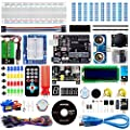 Smraza Super Starter Kit with Breadboard, Power Supply, Jumper Wires, Resistors, LED, LCD 1602, Sensors, Detailed Tutorial for Project, Compatible with Arduino