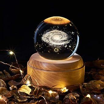 OurLeeme Caja de música, bola de cristal con luz nocturna ...
