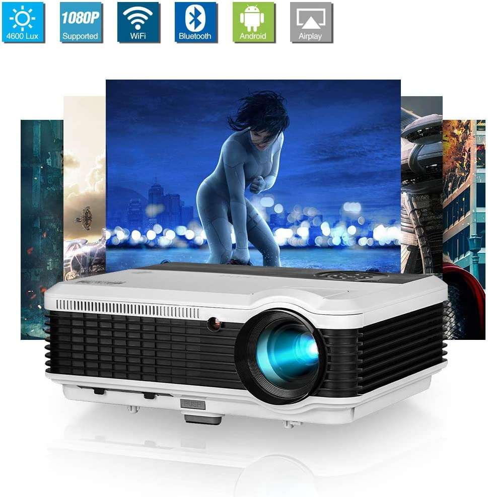 WiFi LCD Proyector 1080P HDMI Android 4500 Lumen Multimedia ...