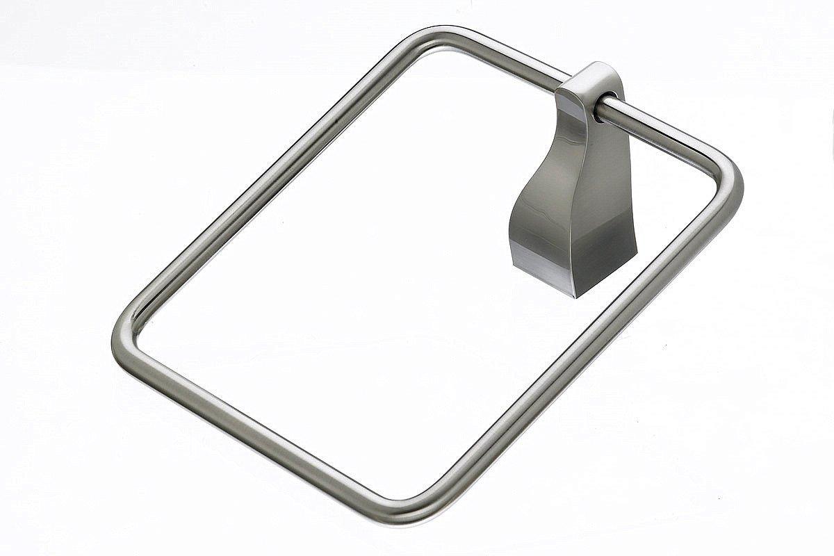 Top Knobs AQ5BSN Bath Aqua Collection 1.25 Inch Towel Ring, Brushed Satin Nickel Finish