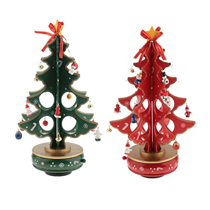 Amazon.com: MonkeyJack 2x DIY Christmas Ornaments Wooden Christmas ...