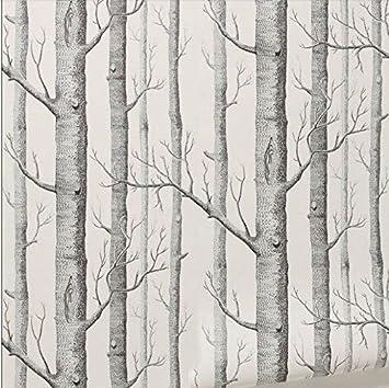 61kvpek9jLL. SX355  - Tapete Wald Schwarz Weis