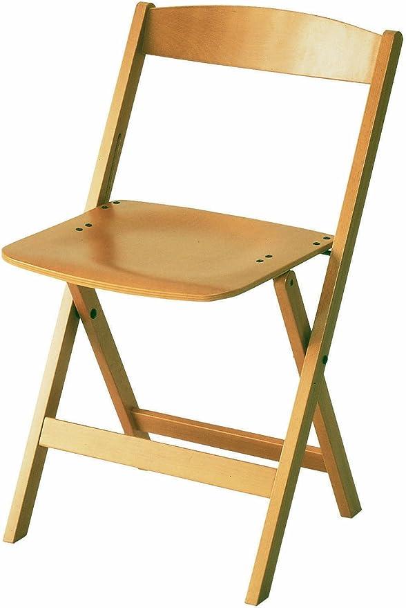 Sedia pieghevole in legno 43 x 80 cm sedia da giardino legno sedia pieghevole robusta sedia bistrot