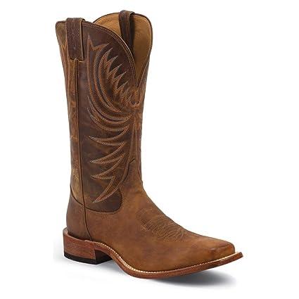 c0b5ae79139 Tony Lama Mens Bingham Sq Toe Cognac Boots