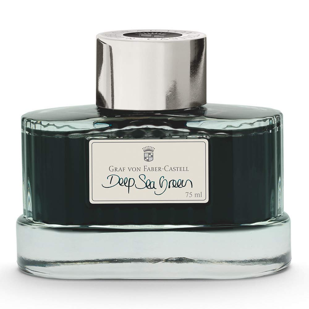 Graf von Faber-Castell Fountain Pen Ink,75ml, Deep Sea Green (FC141008)