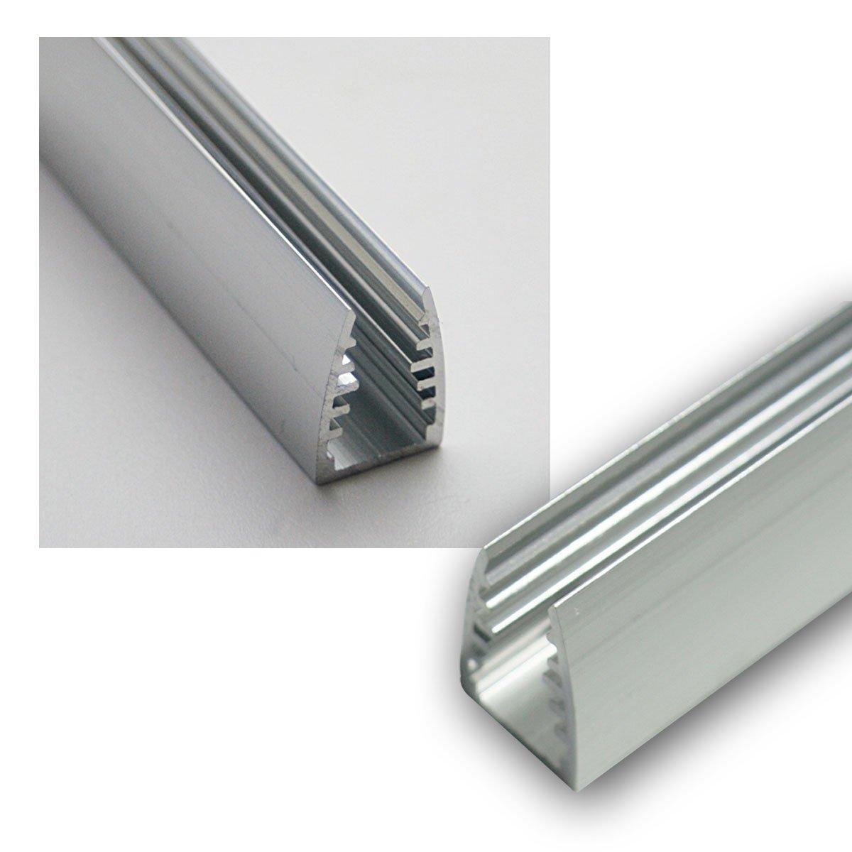 1m LED Alu-Glaskanten-Profil eloxiert, 12,5x18mm world-trading-net